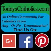 Logo For TodaysCatholics.com, an online community for Catholics of any..or no..denomination.